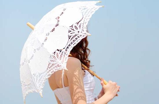 umbrella ร่มกันแดดลูกไม้ สไตล์วินเทจ สวยหรู งามสง่า มีหลายสีให้เลือกค่ะ (ตัวแทน 745บาท)