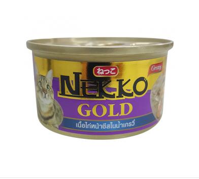Nekko G.ไก่หน้าชีสในเกรวี่ กป.85g. ม่วง
