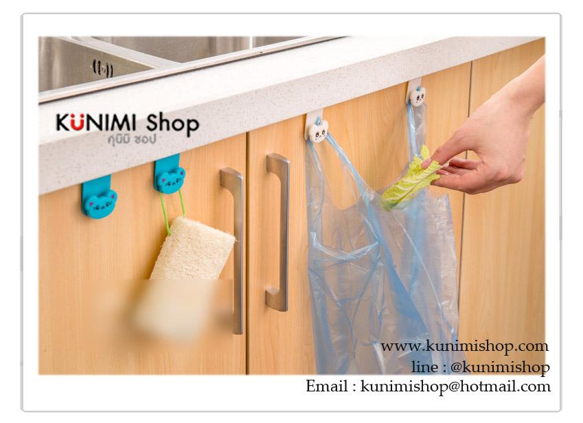 ตะขอที่แขวนสิ่งของอเนกประสงค์ เช่น แขวนของใช้ในครัว ของใช้ในห้องน้ำ สามารถนำไปเกี่ยวได้ที่ขอบประตู ขอบตู้ ทำให้หยิบใช้งาน ประหยัดพื้นที่ในการจัดเก็บ