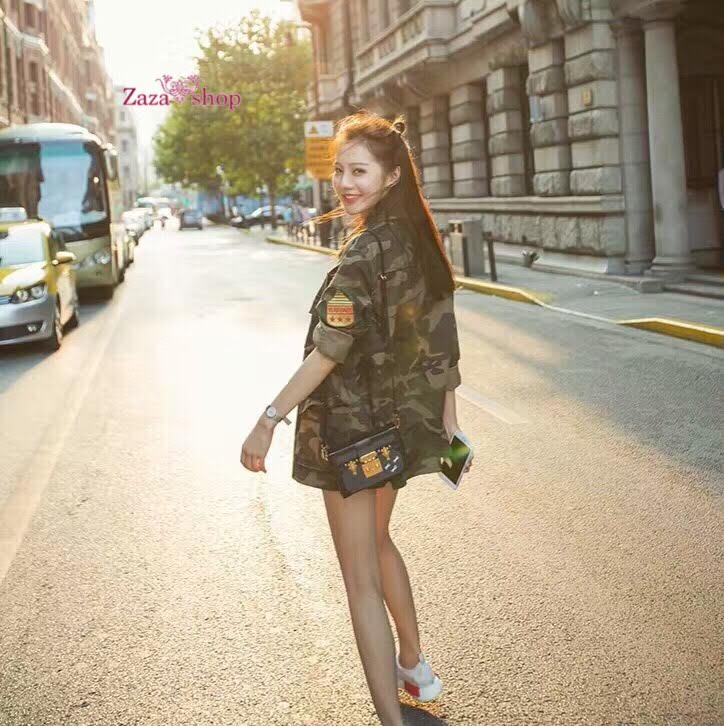 เสื้อคลุมทหารลายพรางทั้งตัว งานปักด้านข้างทหารus ผ้าฟอกสีสวยสุดๆ เนื้อผ้านิ่มงานเกาหลีค่ะ ใส่เที่ยวสบายๆ