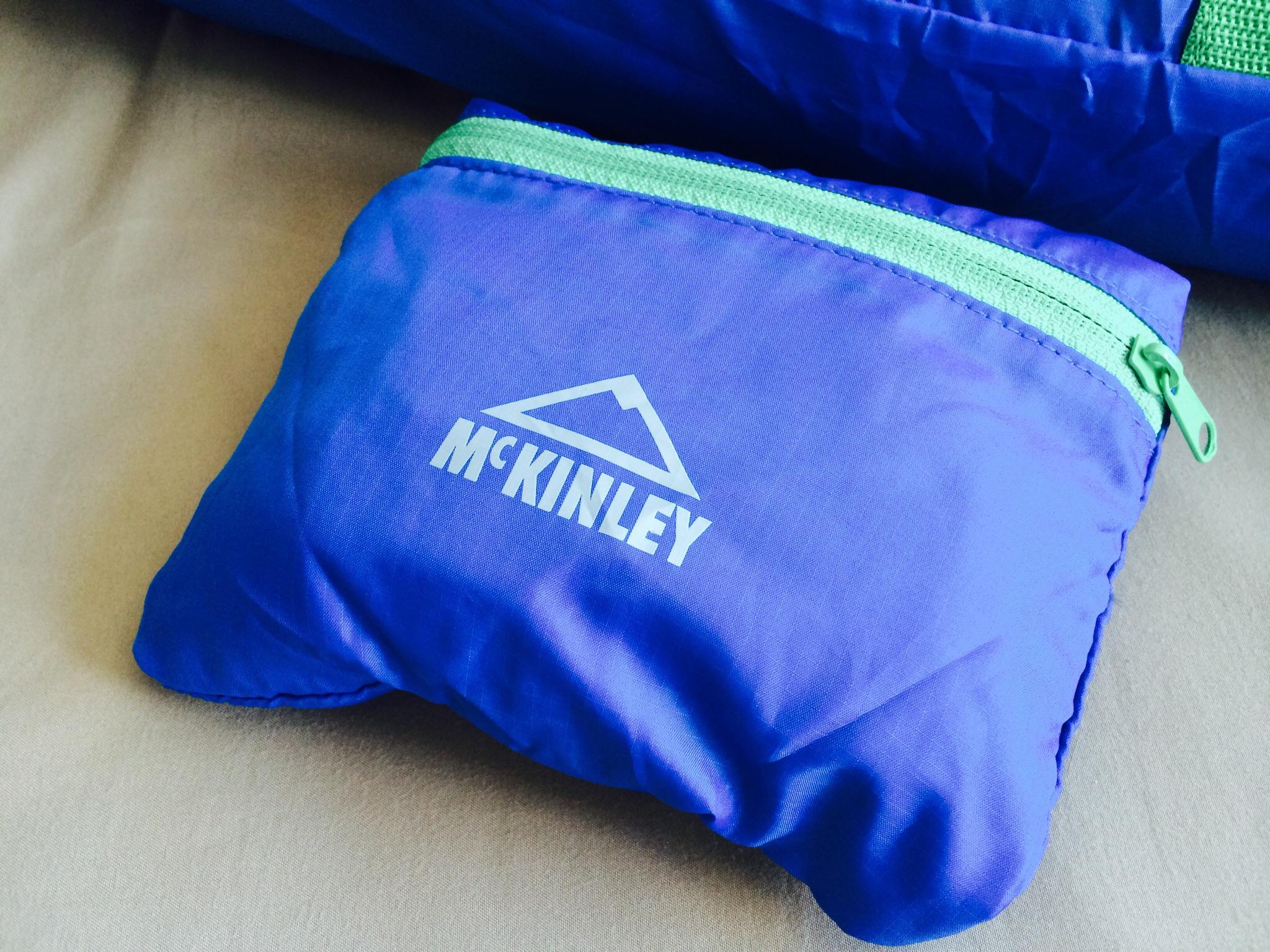 McKinley - Sport Packaway Duffle สีฟ้าเข้ม/สายสีเขียว