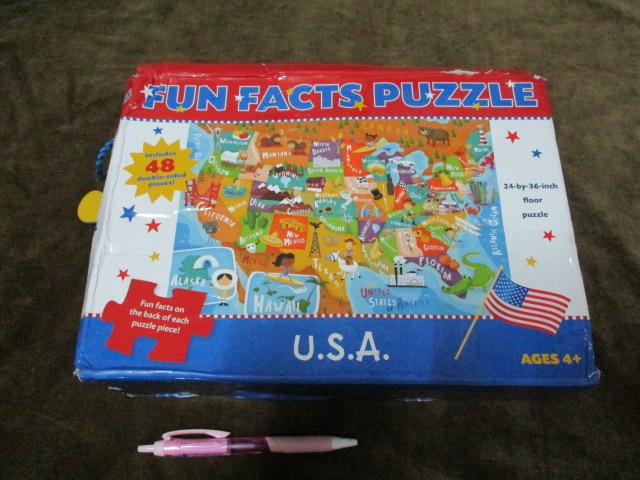จิ๊กซอว์ 48 ชิ้น fun facts puzzle USA