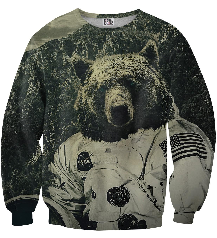 Pre-Order เสื้อยืดพิมพ์ลาย MR.GUGU & Miss GO : NASA BEAR SWEATER