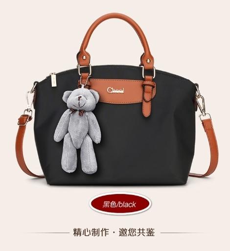 กระเป๋าสะพายนำเข้า รุ่นทรงคล้าย Longchamp ห้อยน้องหมี ฺฺBrand