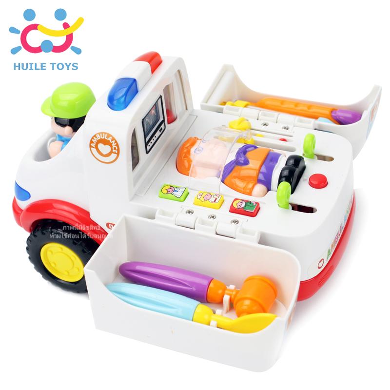 รถพยาบาล Huile Toys All-Around Ambulance
