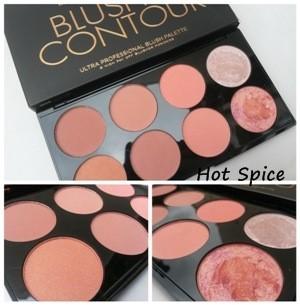 Makeup Revolution Ultra Blush Palette # Hot Spice พาเลทปัดแก้ม