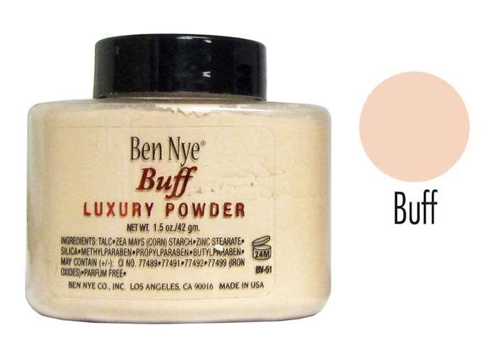 Ben Nye Luxury Powder #Buff 42g สำหรับผิวโทนขาว /ขาวอมชมพู