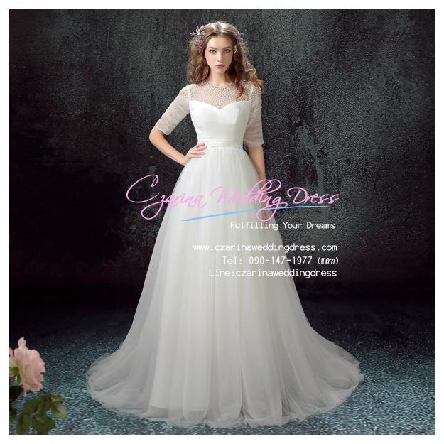 wm5109 ขาย ชุดแต่งงาน เจ้าหญิงแขนยาว ใส่ถ่ายพรีเวดดิ้ง สวยหรู ดูดีที่สุดในโลก ราคาถูกกว่าเช่า