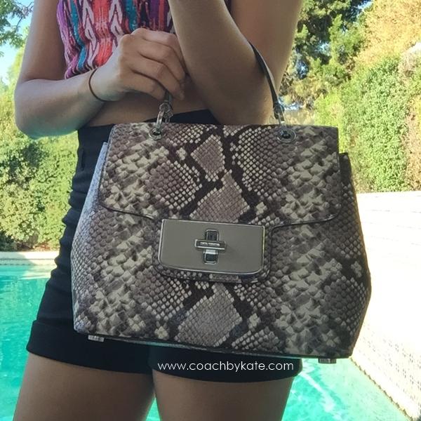 สินค้าพร้อมส่งจาก USA » กระเป๋า Michael Kors 30H5SEO3N Emery Embossed Leather Satchel Purse Handbag Bag $398