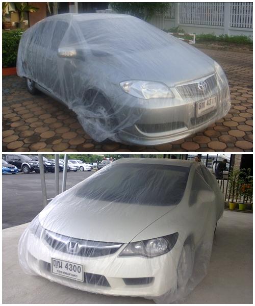 พลาสติกคลุมรถแบบใส