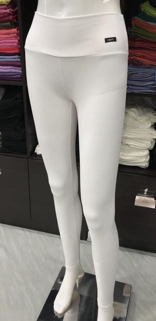เลคกิ้ง กางเกงขายาว สีขาว