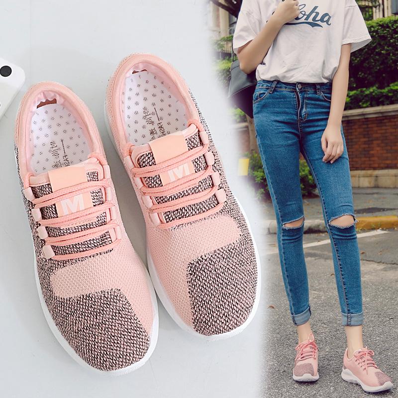 Pre Order รองเท้าผ้าใบแฟชั่นเกาหลี แต่งสีทูโทน ระบายอากาศได้ดี มี3สี
