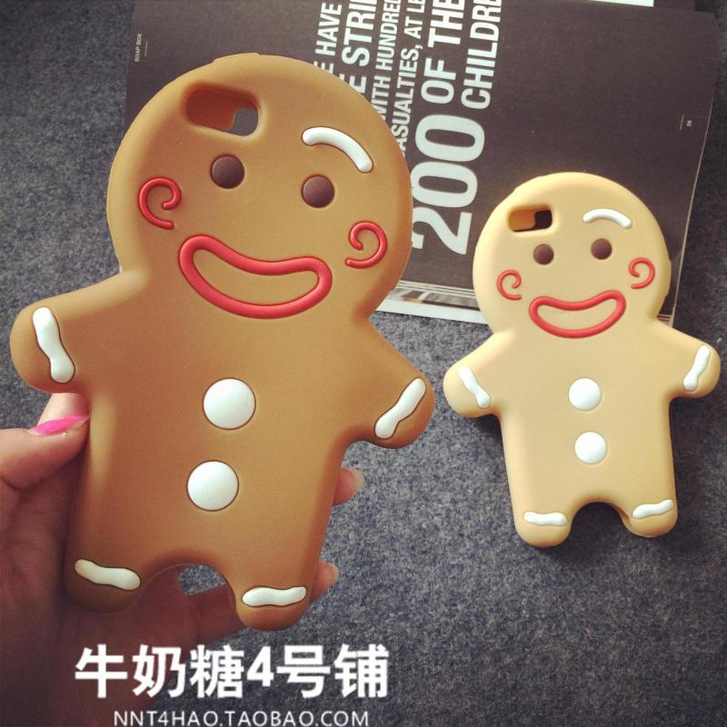 เคสไอโฟน 6/6Plus เคสซิลิโคนดีไซน์ Gingerbread Man บิสกิต iPhone6/6Plus Case