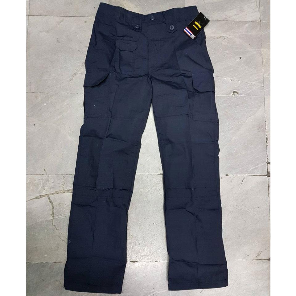 กางเกงเดี่ยว ACU กรมท่า ผ้ากันลม (มีตีนตุ๊กแกปลายขา)
