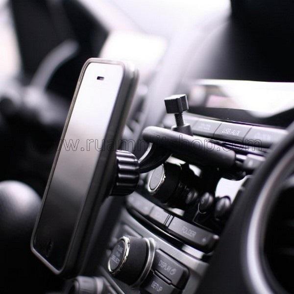 CD Car Holder Magnetic(แม่เหล็กแรงสูง) ใช้วางมือถือในรถ ติดตั้งไม่บังกระจก