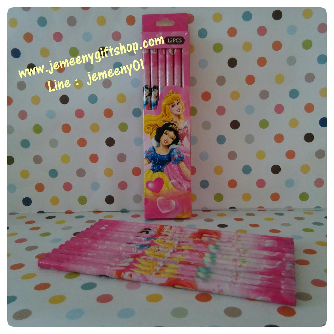 ดินสอ ลายเจ้าหญิง princess มี 12 แท่งในกล่อง