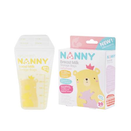 Nannyถุงเก็บน้ำนมแม่ 20 ชิ้น ขนาด 8 ออนซ์