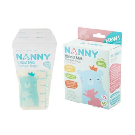 Nannyถุงเก็บน้ำนมแม่ 60 ชิ้น ขนาด 8 ออนซ์