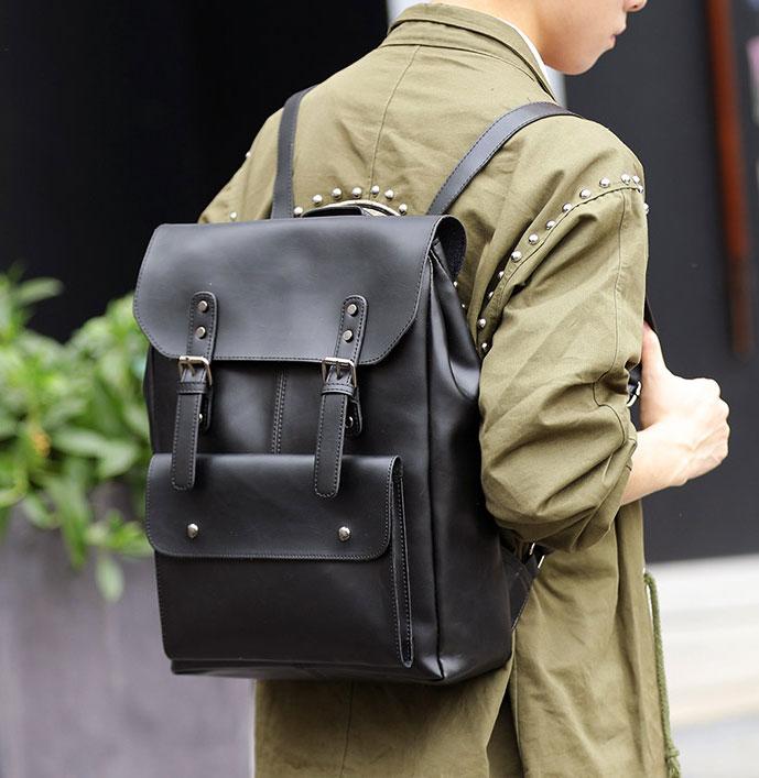 Pre-order กระเป๋าเป้สะพายหลัง เป้เดินทาง เป้นักศีกษา ใส่หนังสือผู้ชายเแฟขั่นเกาหลี รหัส Man-6261 สีดำ