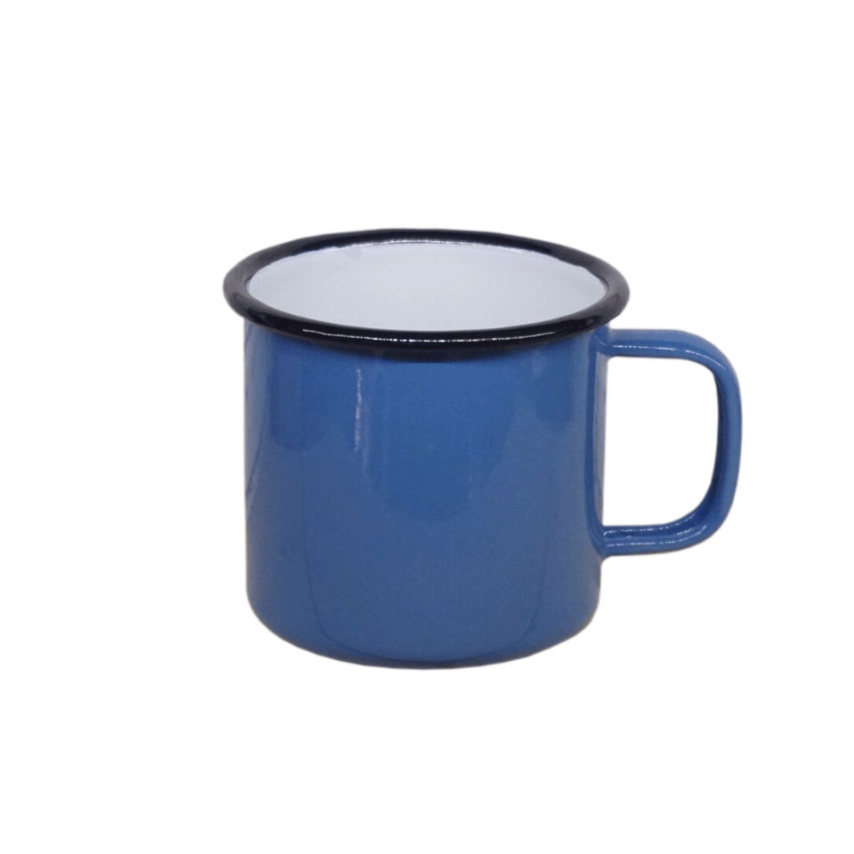 Enamel Mug 10cm w/ Black rim color (Thai-Grade)