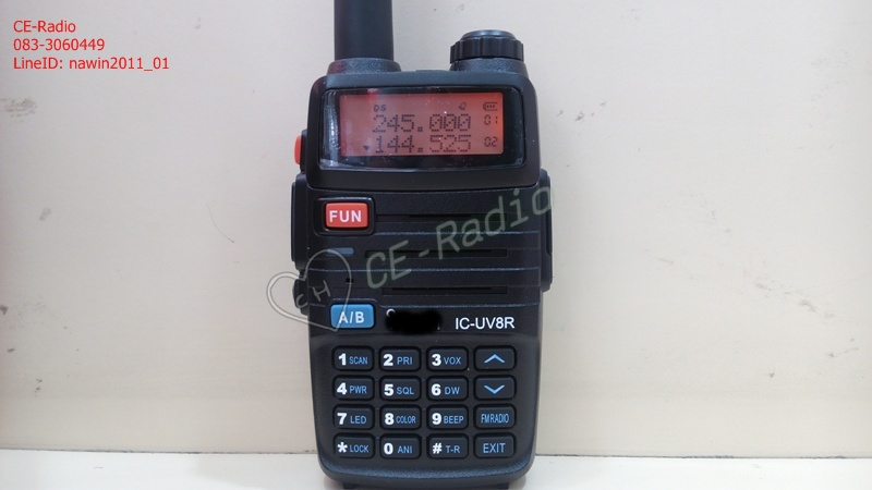 IC-UV8R สีดำ 2 ความถี่ VHF/CB