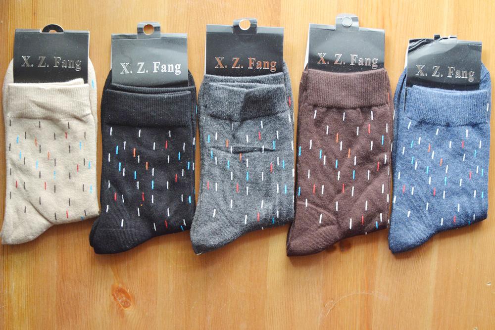 S478**พร้อมส่ง** (ปลีก+ส่ง) ถุงเท้าข้อยาว ชาย คละ 5 สี 10 คู่ต่อแพ็ค เนื้อดี งานนำเข้า(Made in China)