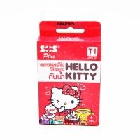 (ซื้อ3 ราคาพิเศษ) Hello Kitty (เฮลโล คิตตี้) พลาสเตอร์ใส ปิดแผลกันน้ำ SOS Plus รุ่น T1 series ขนาด 2.5*5.6 ซม. กล่องมี 6 แผ่น 3 ลาย ลิขสิทธิ์ SARIO