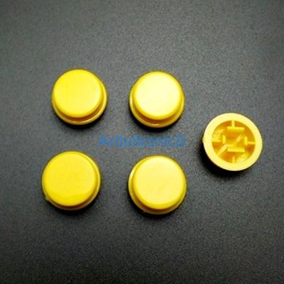 สีเหลือง B3F Tactile Switch Cap Round Button Cap 12x12x7.3mm แพค 5 ตัว