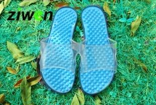 K017-SBL **พร้อมส่ง** (ปลีก+ส่ง) รองเท้านวดสปา เพื่อสุขภาพ ปุ่มเล็ก สำหรับผู้หญิง สีฟ้า ส่งคู่ละ 120 บ.