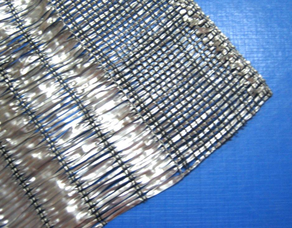 สแลนด์สีเทา-เงิน พรางแสงUV70% หน้ากว้าง 3x100 เมตร (ม้วน)