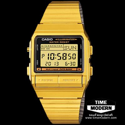 นาฬิกา Casio Data Bank เรือนทองยอดนิยม รุ่น DB-380G-1DF