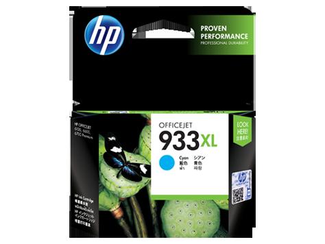 HP 933XL ตลับหมึกอิงค์เจ็ท สีฟ้า High Yield Cyan Original Ink Cartridge (CN054AA)