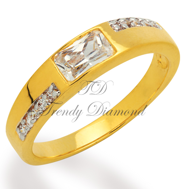 แหวนเพชร Space Cut สีทอง