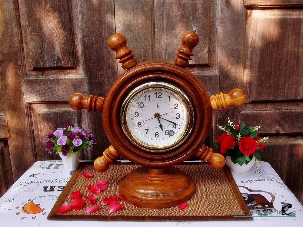 """นาฬิกาไม้สักตั้งโต๊ะ DCL ขนาด 8"""""""