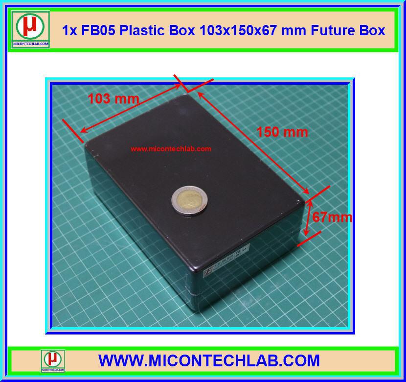 1x กล่อง FB05 สีดำ ขนาด 103x150x67 มม. Future Box