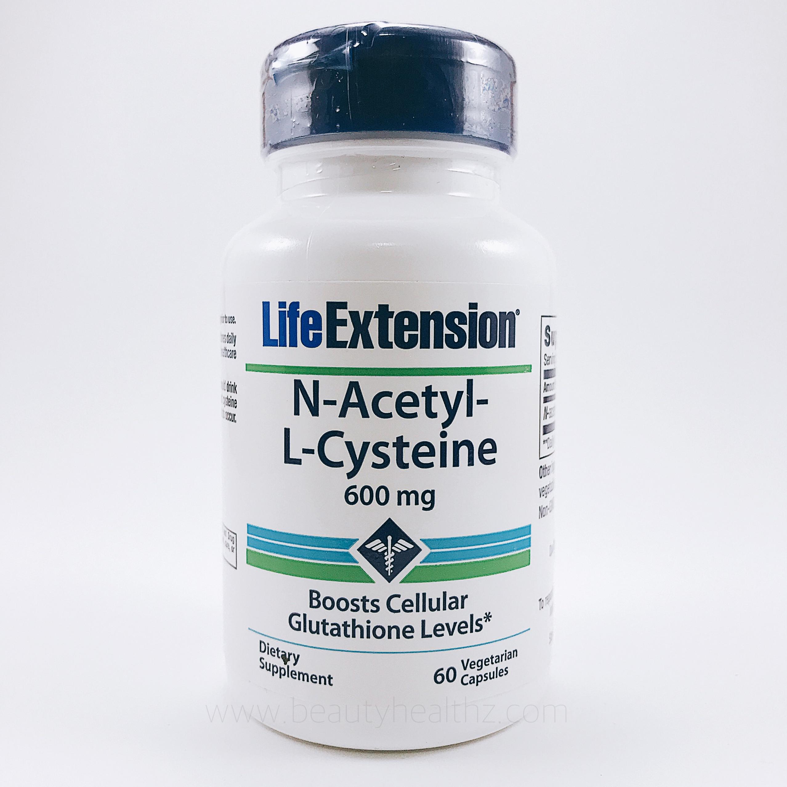 Life Extension, N-Acetyl-L-Cysteine, 600 mg, 60 Veggie Caps