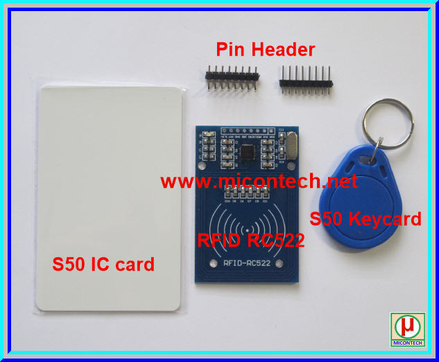 1x RFID RC522 Kits 13.56MHz with Key Tag + Card Tag