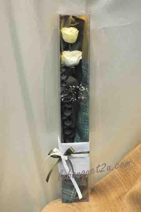 กล่อง-ใส่ดอกไม้ ขนาด 3 x 3 x 18 นิ้ว หรือ 7.6 x 7.6 x 45.7 cm