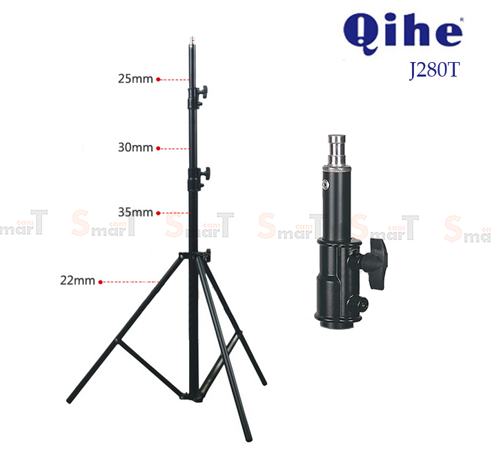 Light Stand Qihe QH-J280T ขาตั้งไฟโช๊คสปริง (280cm)