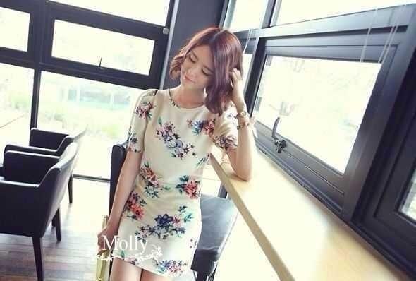 Lively Flower Print Dress เดรสลายช่อดอกไม้